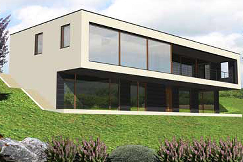 baukonzept massivhaus in leipzig und karlsruhe bauen massivhaus bauhaus stil. Black Bedroom Furniture Sets. Home Design Ideas