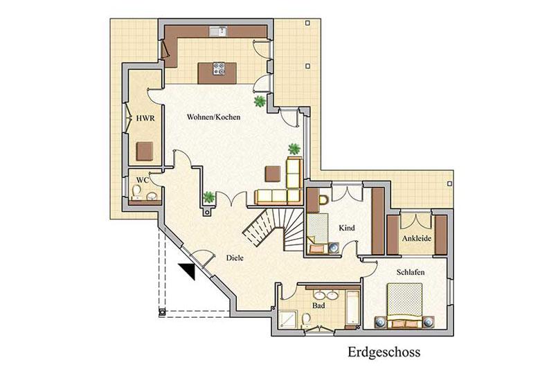 Baukonzept massivhaus in leipzig und karlsruhe bauen for Grundriss architektenhaus