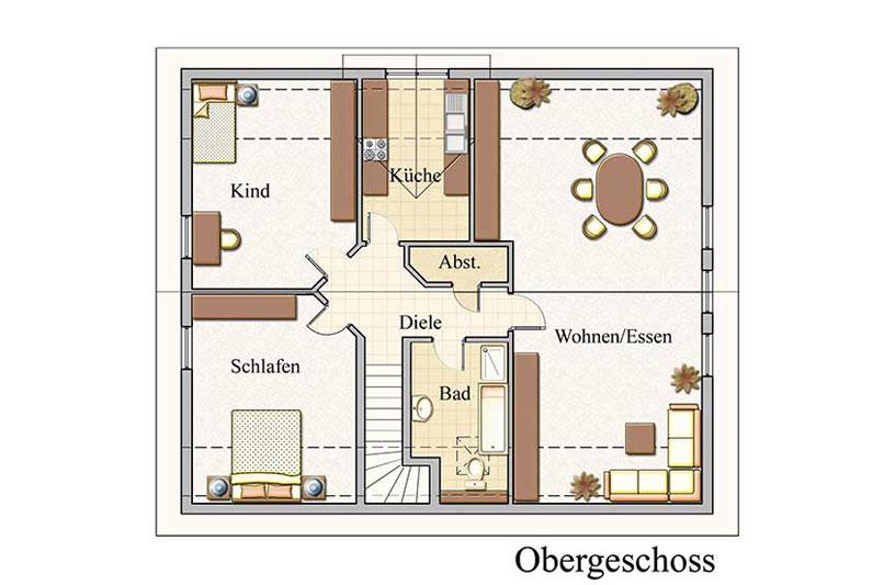 Baukonzept massivhaus in leipzig und karlsruhe bauen for Zweifamilienhaus grundriss