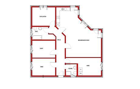 Erdgeschoss - Bungalow Konzept B 230