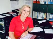 Frau Riedel - kaufmannische Geschaftsleitung