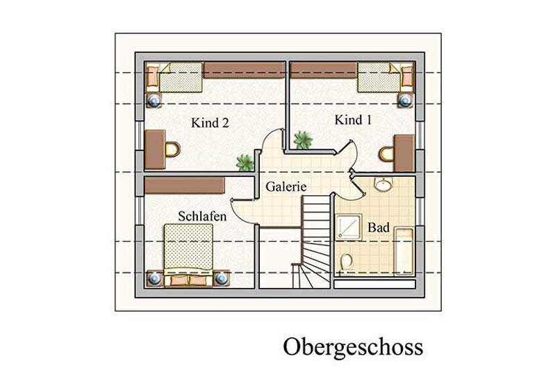 Obergeschoss - Klassisch - Konzept E100