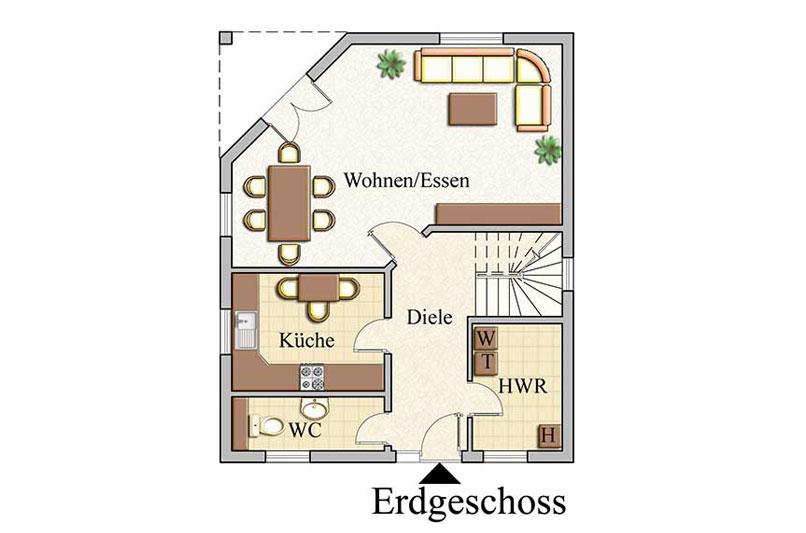 Erdgeschoss - Klassisch - Konzept E210