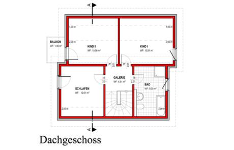 Obergeschoss - Klassisch - Konzept E 400