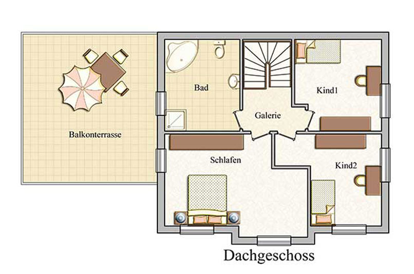 Obergeschoss - Klassisch - Konzept E 530