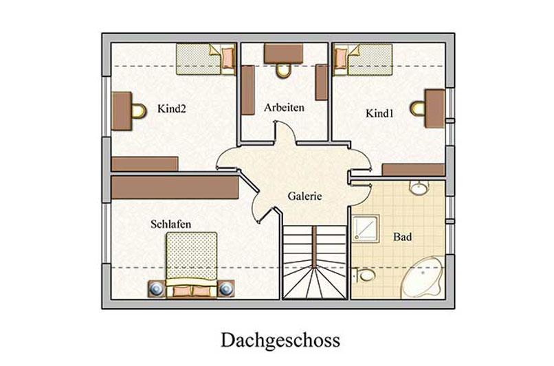Obergeschoss - Klassisch - Konzept E 550