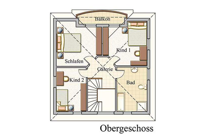 Obergeschoss - Stadtvilla – Konzept V 110