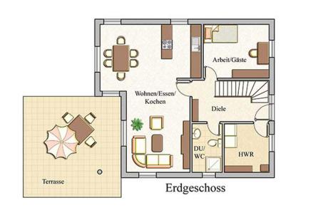 Erdgeschoss - Stadtvilla Konzept V 130