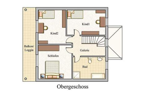 Obergeschoss - Stadtvilla Konzept V 130