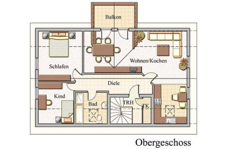 Obergeschoss - Zweifamilienhaus Konzept Z 100