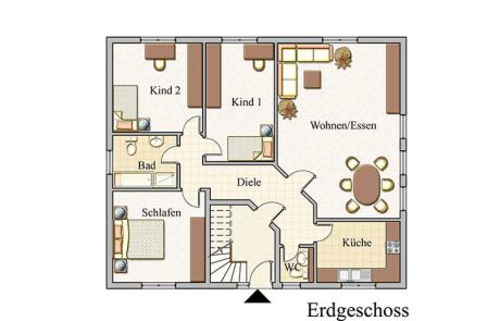 Erdgeschoss - Zweifamilienhaus Konzept Z 200