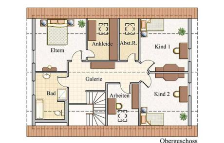Obergeschoss - Zweifamilienhaus Konzept Z 200